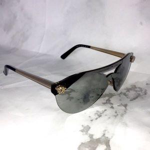 Versace mirror logo sunglasses shades Medusa charm
